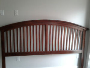 King sized bed frame. Solid wood