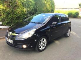 Vauxhall Corsa 1.4 SXI Black 5 Door 2009 Good Service History Long Mot