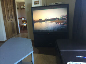 Free 50 inch Hitachi projection TV