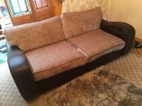 X 2 SOFAS 3 SEATER AND 2 SEATER ** CAN DROP OFF ** BROWN