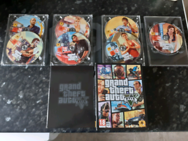 Gta 5 for pc new condition 7 discs map and everything from new