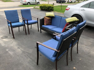 Patio set with Cushions and storage