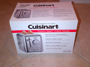 NEW TOASTER All Stainless CUISINART Customer Select 2 Slice