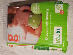 Brand NEW, in sealed package, g diapers Disposable Inserts