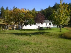 Acreage close to Kamloops, with home!
