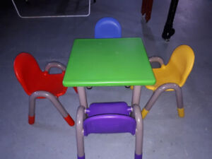 Children's Table and 4 Stacking Chairs