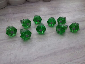"Gorgeous Glass Cabinet Knobs ""green"""