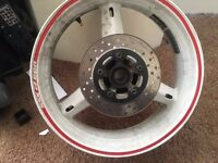 Suzuki gsxr 600cc rear wheel and more parts