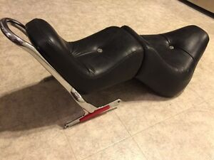 Harley Softail king queen seat with sissy bar