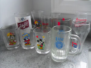 VARIOUS BEER GLASSES & MUGS,STEINS & OTHER BRANDS.
