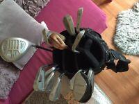 Golf club set plus bag 15 clubs- mizuno dunlop