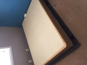 Queen bed frame and box