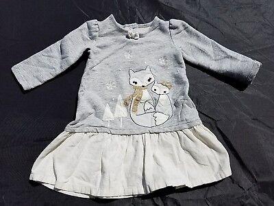 Gymboree Girls All Spruced Up Dress  Size12-18 Months Fox Grey Corduroy ()