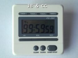 Digital timer clock large screen 4 event 4-channel countdown kitchen lab use