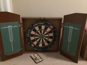 Dartboard - Complete with cabinet and darts