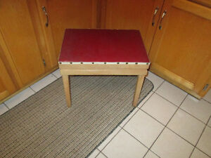 Small Red Bench with Storage