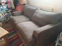 Grey contemporary Linen mix grey sofa