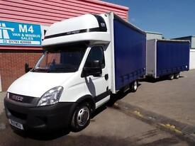 Iveco Daily 35C17 XLWB CURTAINSIDER WITH CURTAIN TRAILOR 170PS
