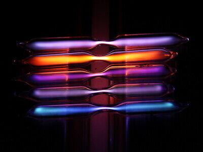 Nano spectrum discharge tube set 80mm - He Ne Ar Kr Xe NEW! Spectrum Discharge Tube