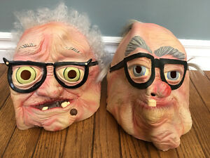 Old lady and old man masks