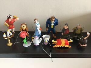 12 disney beauty and the beast christmas tree decorations small film figures