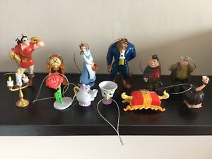12 disney beauty and the beast christmas tree decorations small film figures - Disney Beauty And The Beast Christmas Decorations