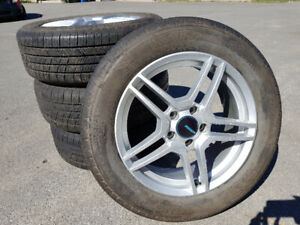 4 Summer Tires (+ Mags)  Michelin 215/60R17 96T fit Caliber 2008