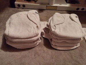 12 Motherease All in One Diapers + 6 Snap In Optional Liners