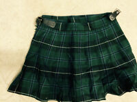 Green/ Navy Girls Kilt/Highland Skirt Size 16