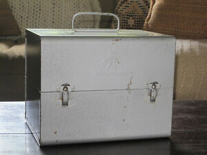 Vintage Metal Brumberger 8mm Film Reel Storage Box