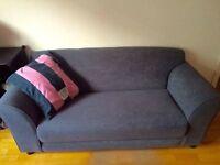 Large Fabric 2 Seater Sofa