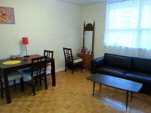 A SPECIOUS FURNISHED bachelor DOWNTOWN- from JUNE 1st- JUNE 29th