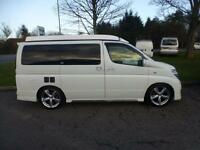 Nissan Elgrand 4 Berth Elevating Roof Campervan