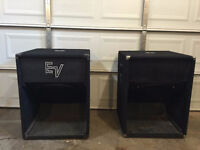 """Subwoofers , 18"""" 1000-watts EV SH-1810 (2 avail), cables incl."""