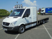 2009 MERCEDES-BENZ SPRINTER 2.1TD 315CDI LWB FLATBED PICK UP TRUCK SLEEPER CAB