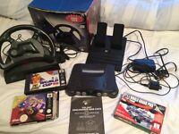 Nintendo 64 games and steering wheel n64 retro