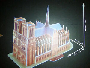 3D Puzzle - NOTRE DAME CATHEDRAL - Brand New! London Ontario image 2