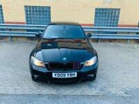 2009 black bmw 3 series m sport 3.0 petrol ideal family car cheap runner