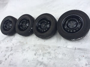 Set of four Michelin X-ICE on rims