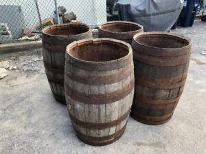 (4) WINE BARRELS 225 LITRES