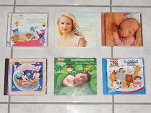 LULLABY CD'S, SET OF 6, BABY EINSTEIN, JEWEL, AND MORE