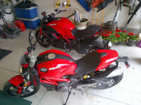 His and Hers Ducati (diavel and monster)