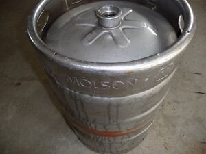 58 L Molson Canadian beer keg and new stainless beer tower