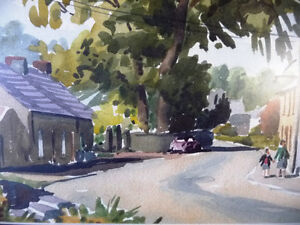 "Original Watercolor, Donald McPherson, RUA, ""Village Afternoon"" Stratford Kitchener Area image 10"
