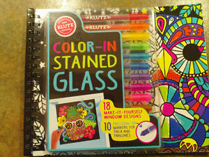 Color-in Stained Glass Craft Book- Brand New Not Used