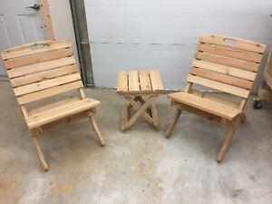 outdoor furniture - western red cedar