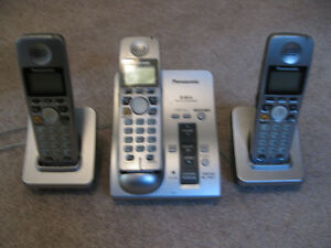 Panasonic 3-Handset Cordless Phone with Answering Machine