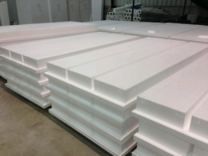 Rigid insulation silverboard and Geo foam