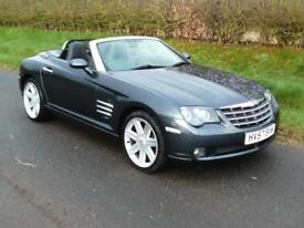 2007 CHRYSLER CROSSFIRE 3.2 ROADSTER, SIX SPEED MANUAL, GREY, HEATED LEATHER
