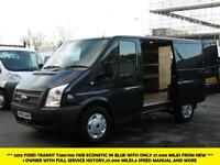 2012 FORD TRANSIT 280/100 ECONETIC SWB LOW ROOF IN BLUE WITH ONLY 27.000 MILES F